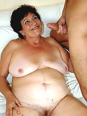 Puffy brunette grandma fucking..