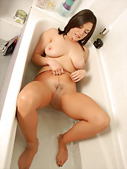 Rebekah loves to bath in her..